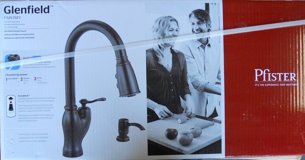Pfister Pull-Down Kitchen Faucet glenfield F-529-7GFY - - Amazon.com
