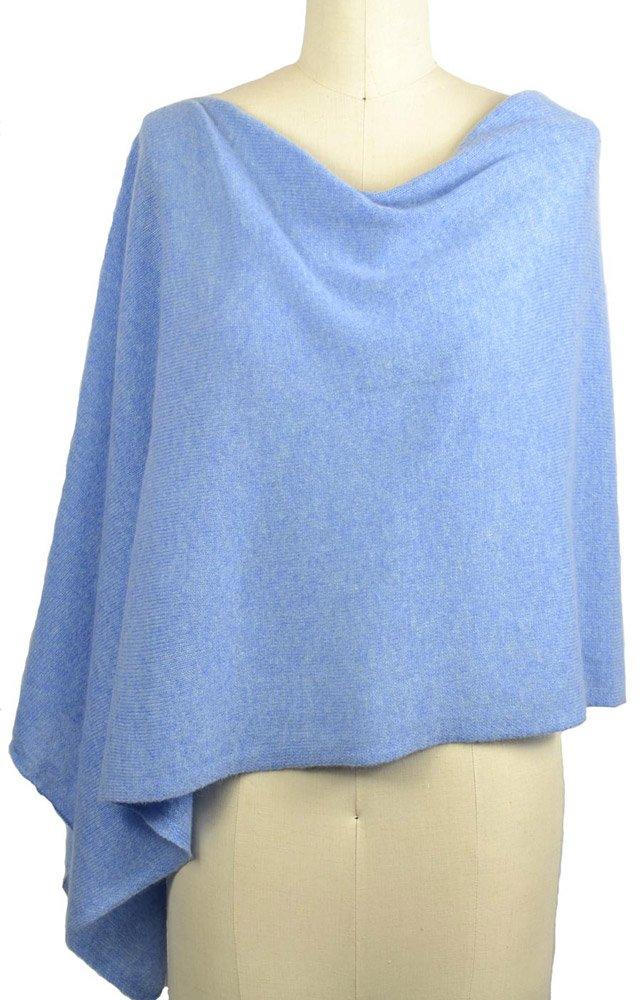 Alashan Cashmere Claudia Nichole Cashmere Draped Dress Topper - Sky/143k