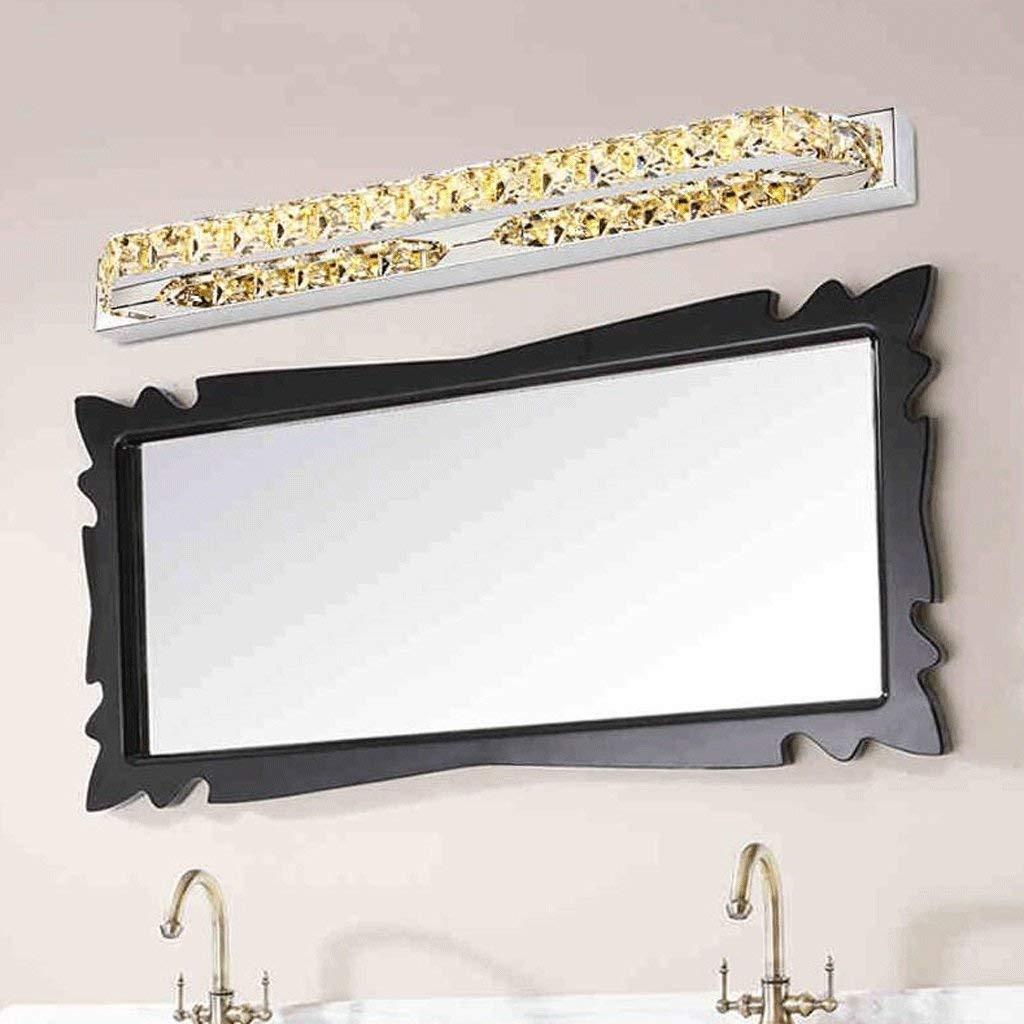 Spiegel Vorne Licht Crystal LED Edelstahl Spiegel Scheinwerfer Schlafzimmer Schlafzimmer Schlafzimmer Toiletten Badezimmer Spiegel Dekorative Wandleuchte (Farbe  Warm Weiß-Champagne-18 w - (68 cm) 2afbe4