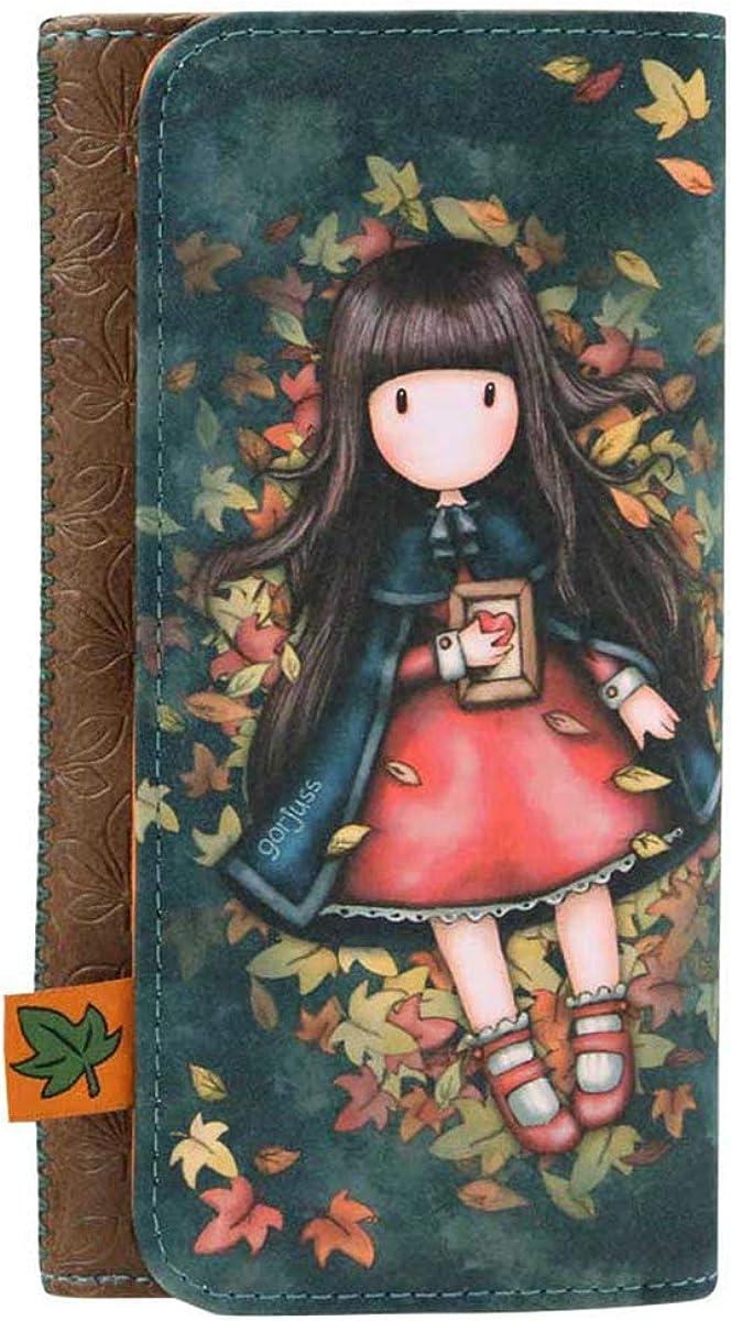 SANTORO GORJUSS 341GJ18, Billetero Grande Autumn Leaves para Mujer, Verde, Pequeño