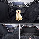 Petacc Waterproof Pet Car Seat Cover Foldable Car Seat Protector Pet Travel Hammock with Non-slip Backing and Storage Bag, Black