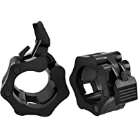 MoKo Barbell Clamps Collars, Quick Release Pair of Locking 2 inch Professional Olympic Weight Barbell Locks Collar Clips…