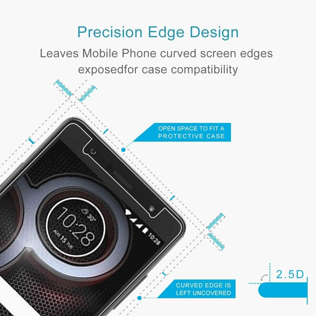 Ruanmaoshi Mobile Accessories 50 PCS 9H 2.5D Tempered Glass Film for Lenovo K8 Phone Products