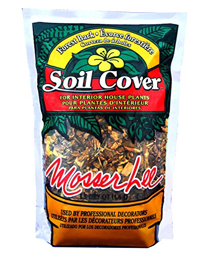 Mosser Lee ML1151 Brown Forest Bark Soil Cover, 1.5 dry qt. (Decorative Soil Cover)
