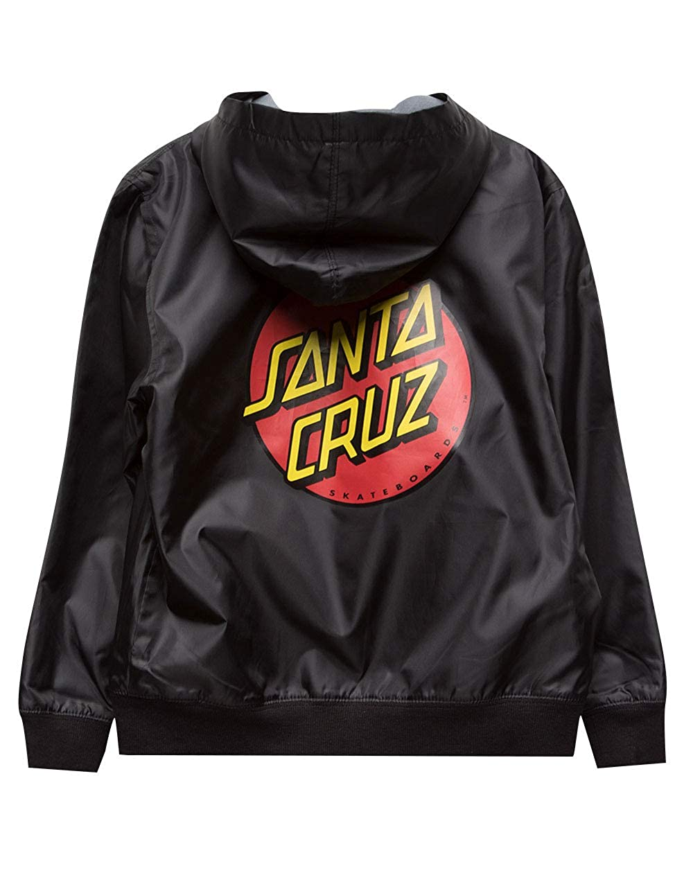 Santa Cruz Boys Dot Hooded Windbreaker Jacket 44641920-BLK-S-A