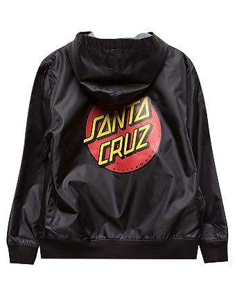 4b520999e3 Amazon.com: Santa Cruz Boys Dot Hooded Windbreaker Jacket: Clothing