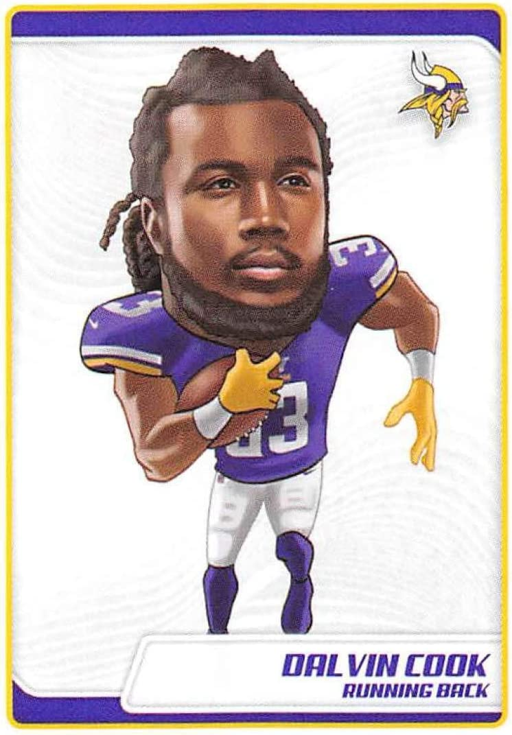 Amazon.com: 2019 NFL Stickers Collection #401 Dalvin Cook Minnesota Vikings Fathead (Small, Thin, Peelable Official Panini Sticker Football Card): Collectibles & Fine Art