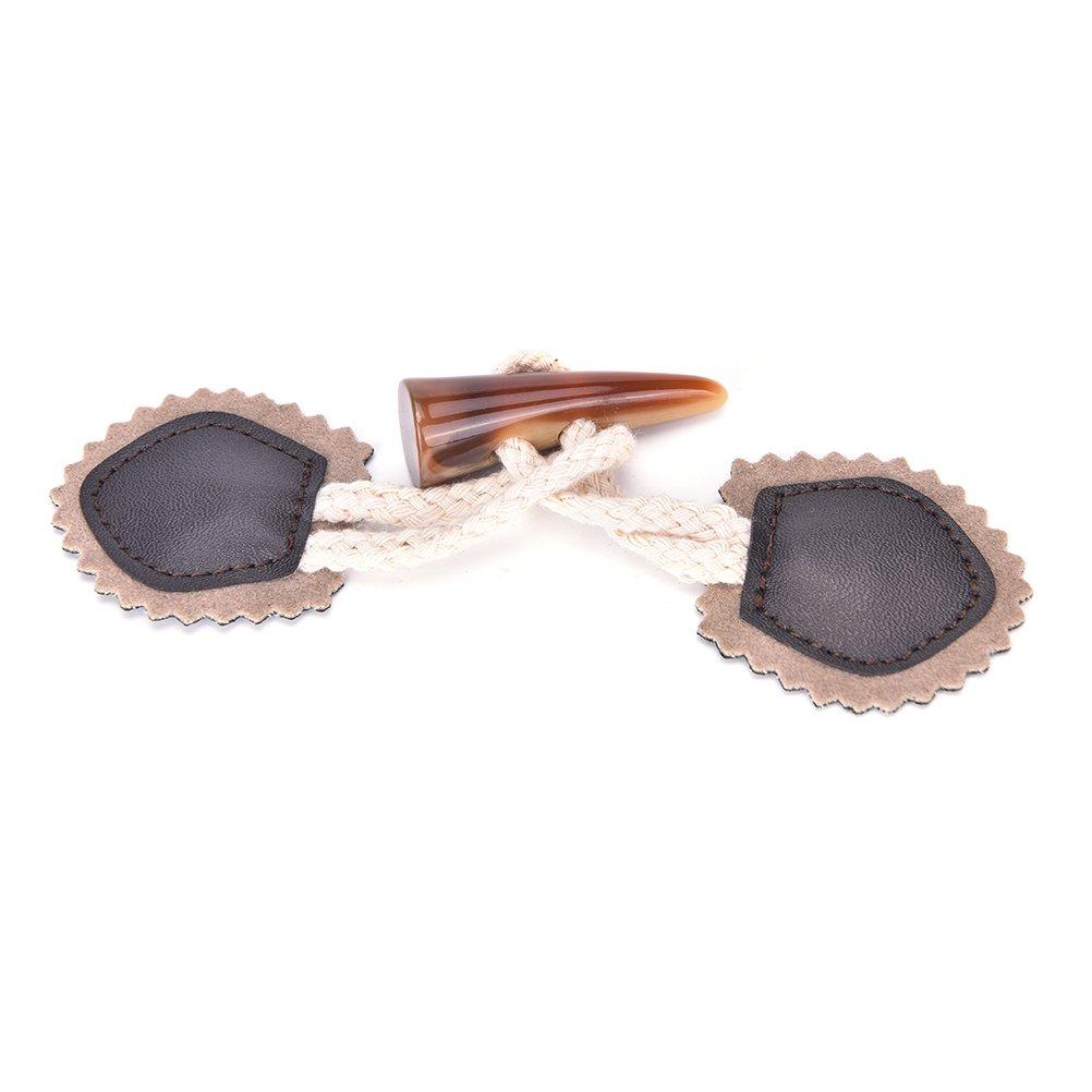 caf/é Bingpong 5 unids 15.5 cm PU cuero girasol buey botones cuerno bot/ón de abrigo para DIY accesorio de costura de prendas de vestir