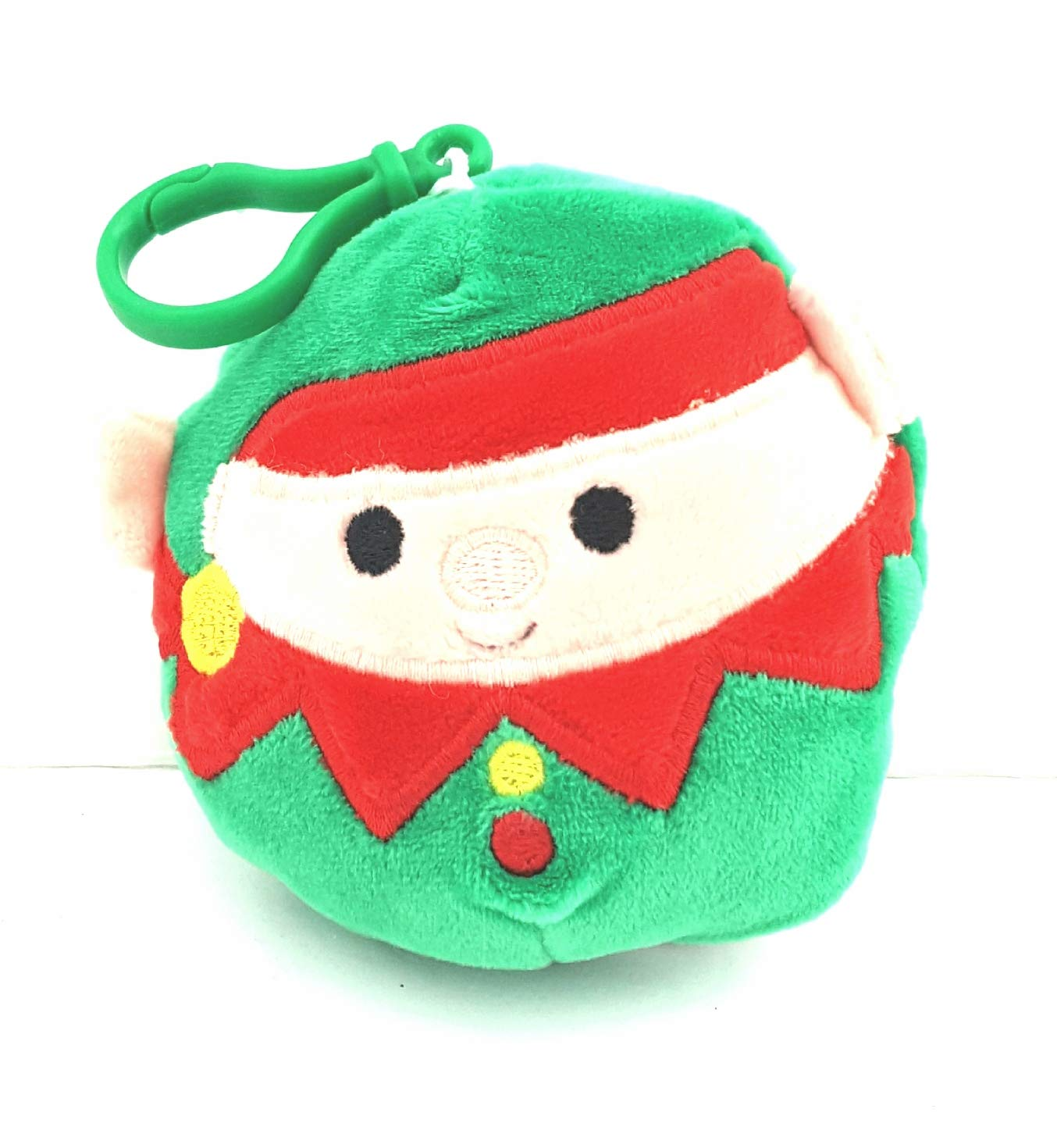 Plush Squishmallow 3.5 Clip On Holiday Christmas Festive Decorative Pillow Toy Elf Bonus Holiday PEZ