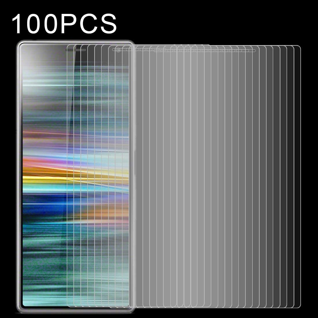 LGYD 100 PCS 0.26mm 9H 2.5D Tempered Glass Film for Sony Xperia 10