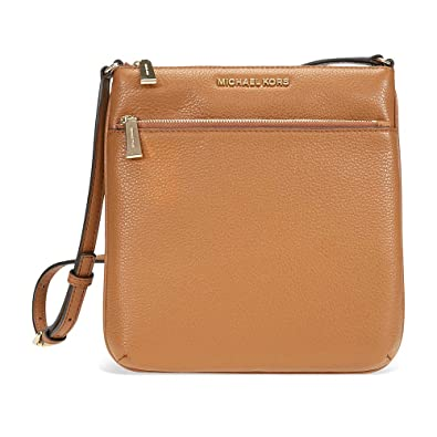 fe0e32932035 Michael Kors Riley Small Flat Leather Crossbody - Acorn  Handbags ...