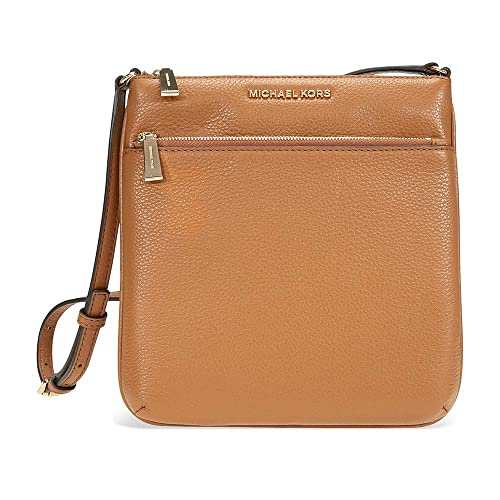 michael kors riley small flat leather crossbody acorn handbags rh amazon com