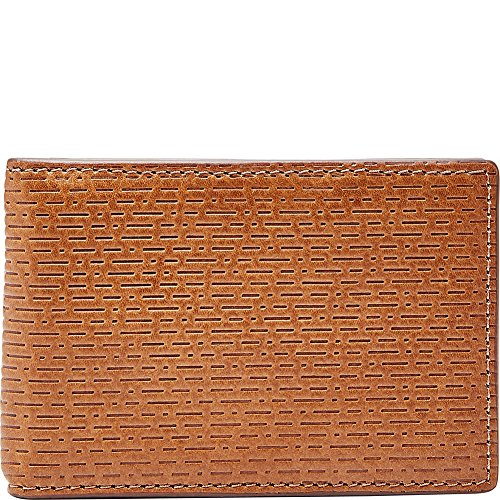 Fossil Men's Coby Leather Rfid Blocking Money Clip Bifold Wallet, cognac, One (Fossil Money Clips)