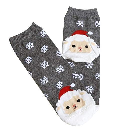 M&OURNM Diseño de Moda Navidad Santa Calcetines Algodón Corto de ...