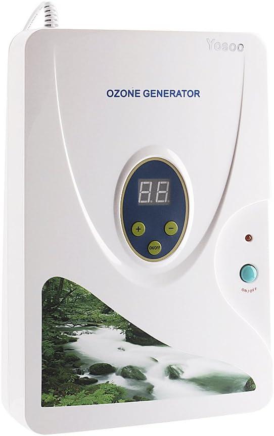 Yosoo 600mg / h Carnes, Frutas y Vegetales hidropónicos de ozono generador generador de ozono desintoxicación de ozono Digitales de Agua Dulce (Temporizador Digital - hasta 30 Minutos)(3189)