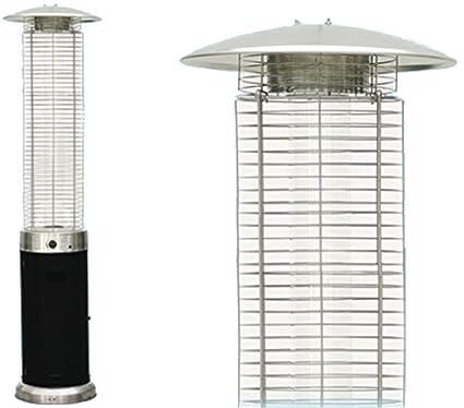 Estufa a pirámide termopatio Seta Gas Niklas Fuego Vivo 13 kW M² 25
