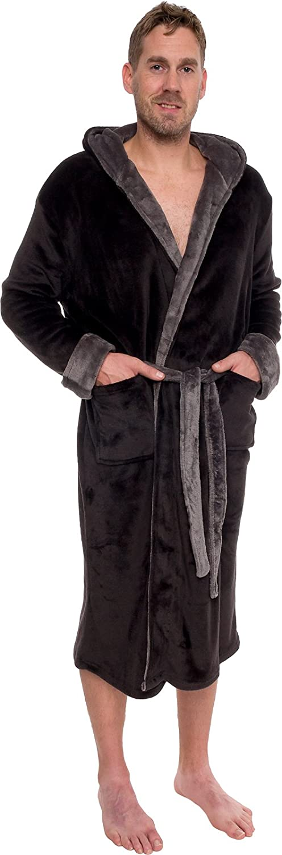 Machine wash cold and tumble dry low. Mens Hooded Robe - Plush Shawl Kimono  Bathrobe by Ross Michaels Mens Hooded Robe - Plush Shawl Kimono Bathrobe by  Ross ... 1f652baac