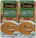 Imagine Organic Vegetable Broth, 32 oz, 2 pk