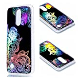 For LG K8 2017 Case Cover, Ecoway TPU Soft Silicone Color plating pattern (Pteris) Silicone Case Protective Cover Cell Phone Case for LG K8 2017 - Pteris