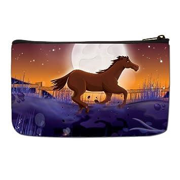 fee08c351e32 Amazon.com : Lgtbg Large Makeup Case Horse Makeup Bag One size : Beauty