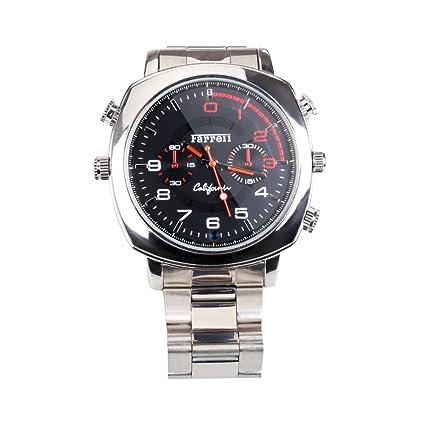 Fly-shop-16GB Real HD 1080P reloj espia con cámara oculta impermeable vision nocturna de plata ...