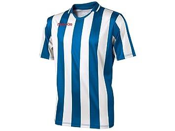 Camiseta Fútbol Manga Corta Macron Maia, Hombre, Azzurro / Bianco