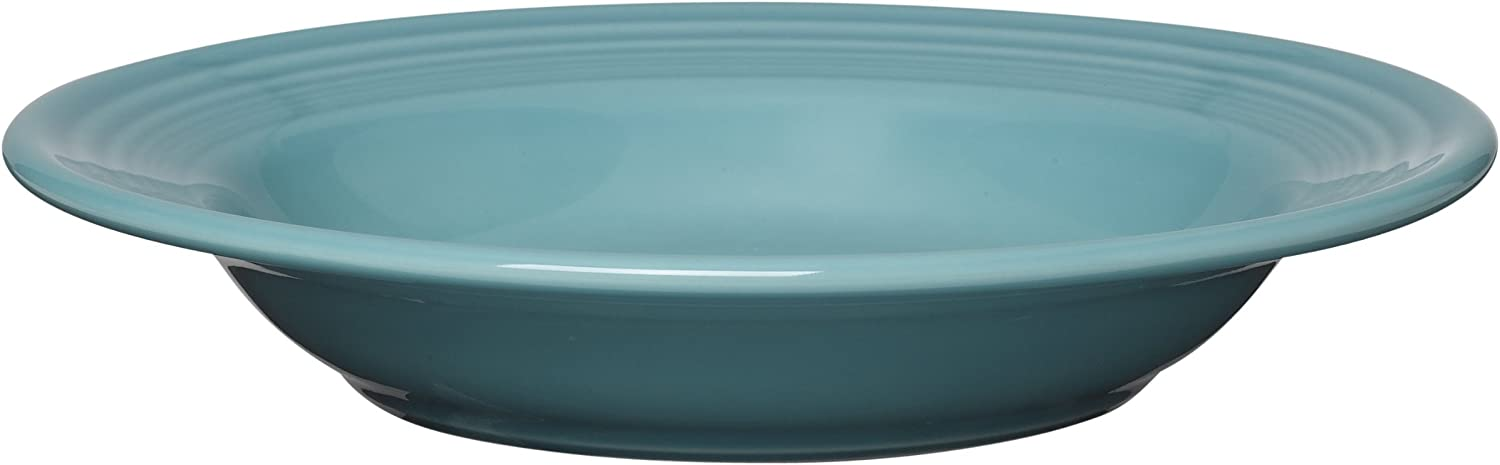 Fiestaware Turquoise Rimmed Soup Bowl Fiesta Blue 9 inch pasta bowl