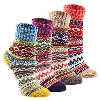 Keaza Women's Vintage Style Cotton Knitting Wool Warm