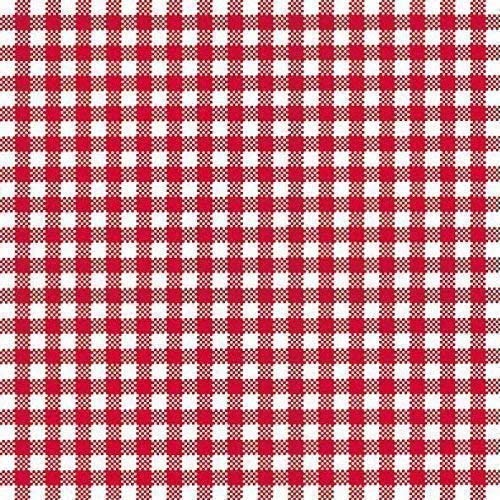IHR TAVERNA red Big Red Gingham Check Luncheon Paper Table Napkins 20 in a pack 33cm square