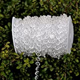 LittleStar 99 ft Clear Crystal Acrylic bead curtain for Wedding,Birthday,Party Decorations,and good for Home,Yard decoration