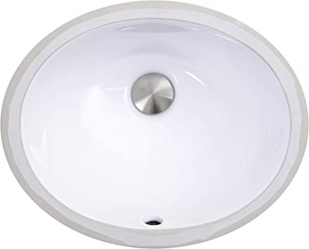 Nantucket Sinks Um 13x10 W 13 Inch By 10 Inch Oval Ceramic Undermount Vanity Sink White Bath Sinks Amazon Com