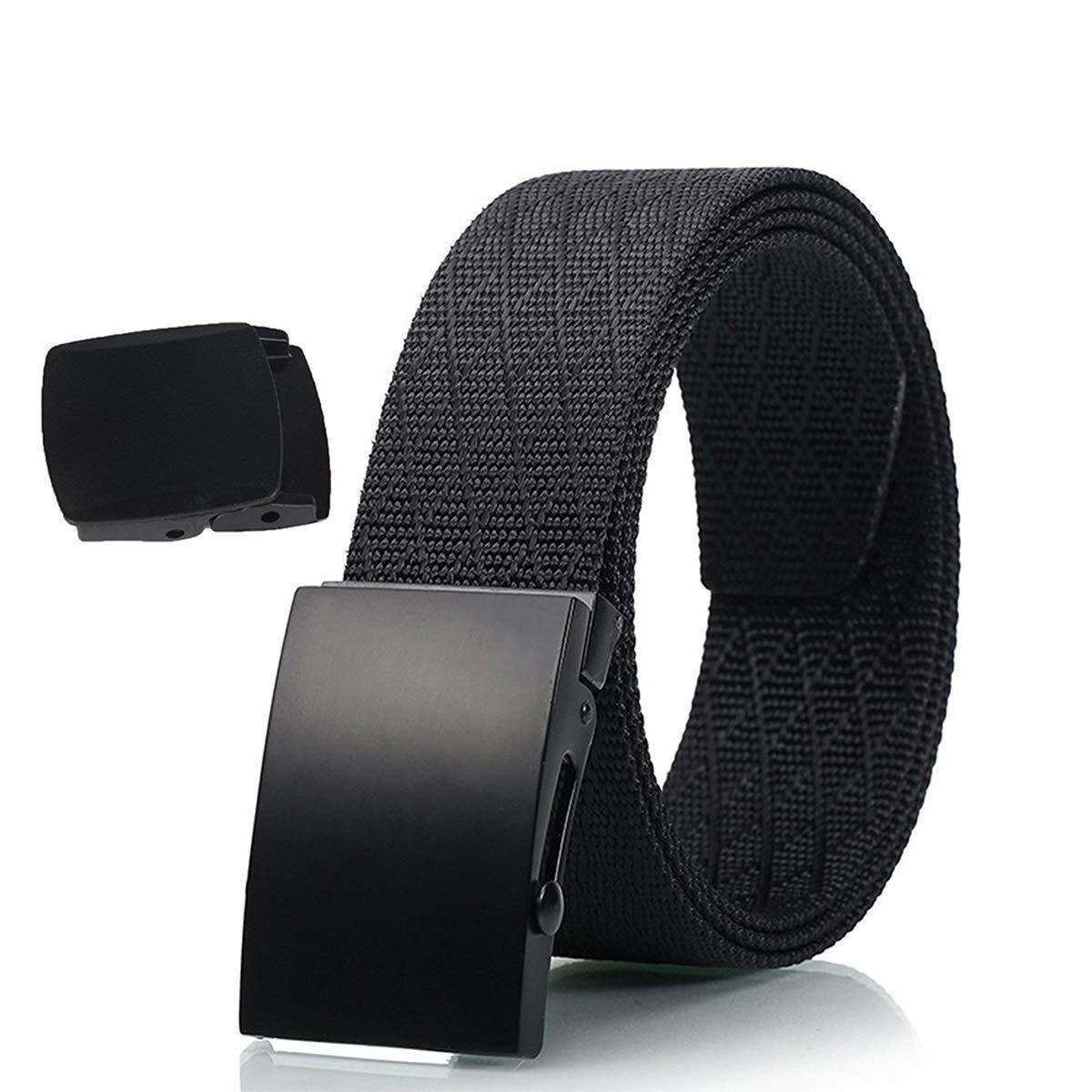 aperil Cintura tattica - Resistente e confortevole e completamente regolabile - Cintura di nylon casual casual Cintura di sicurezza per rigger pesante Cintura in plastica YKK