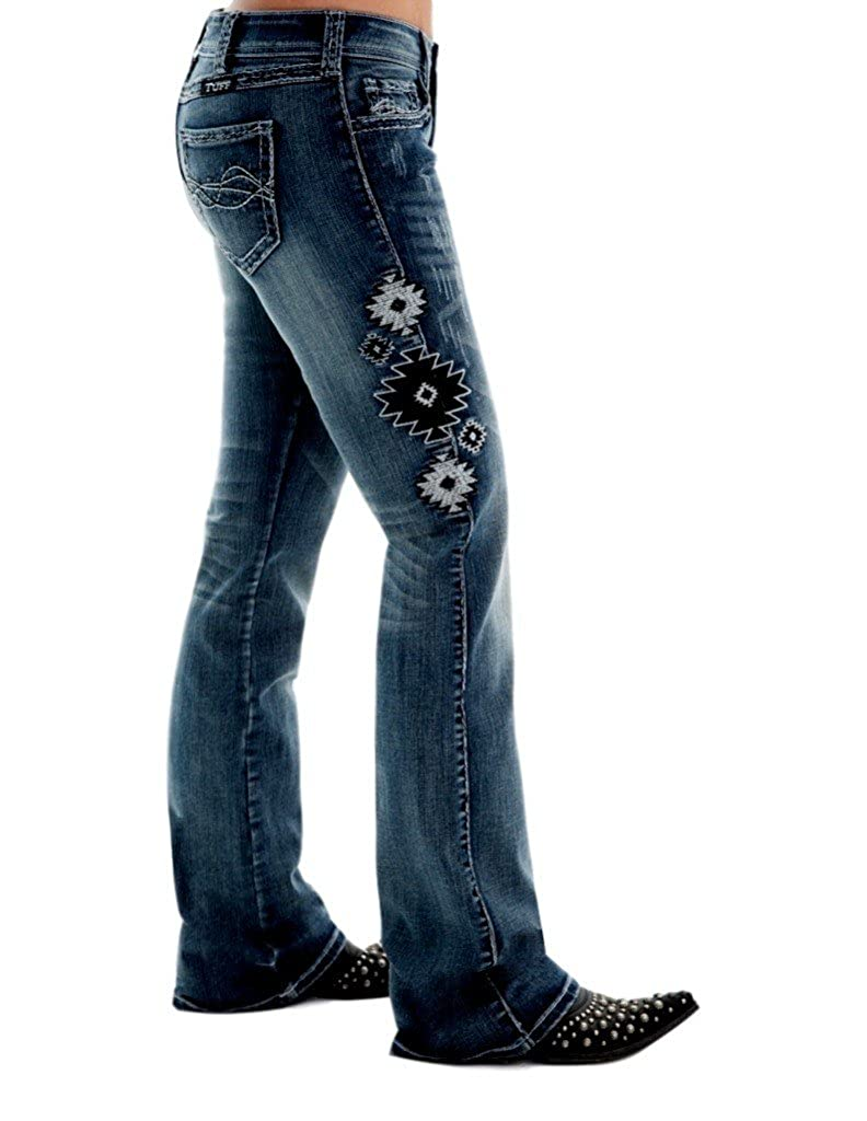 Cowgirl Tuff Western Denim Jeans Womens Aztec II 31 Reg Med JATEII at Amazon Womens Jeans store