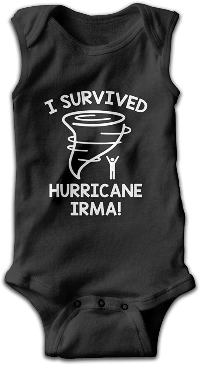 I Survived Hurricane Irma Baby Boys and Girls One-Piece Suit Round Neck Climb A Suit Sleeveless Climb A Suit