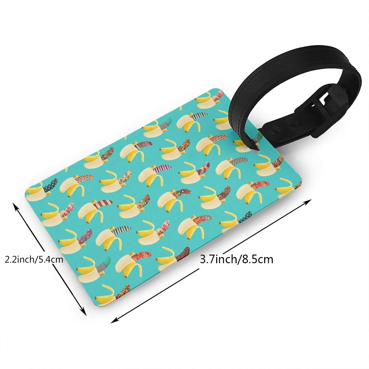 Set of 2 Anna Banana II Luggage Tags Suitcase Labels Bag Travel Accessories