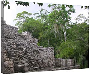 VinMea Canvas Prints Wall Art Decoration - Mayan Ruins Coba - Framed Painting On Canvas Gallery Wrapped Modern Artwork for Living Room Bedroom Decor 16