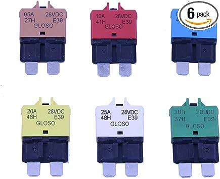 15A 28V DC T Tocas 15 Amp 5pcs Manual Reset Low Profile ATC Circuit Breakers 12V