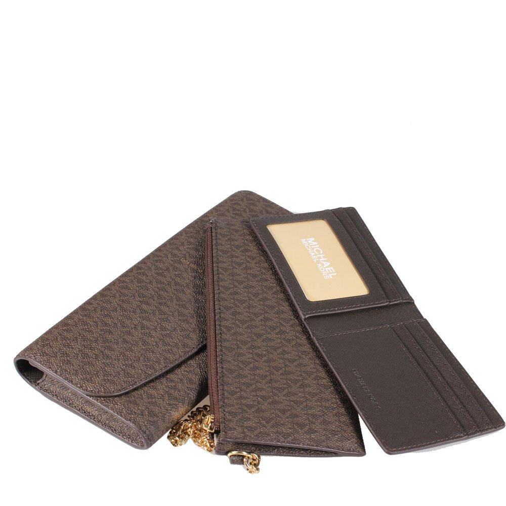 a28ff97b01e4 Amazon.com  MICHAEL MICHAEL KORS Juliana Large Wallet (Signature Brown)   Shoes