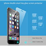 iPhone 6 iphone 6S Tempered Glass Screen Protector Smart [Return Key] & [Confirm Key] Single Hand Operation,HD Anti-Scratch Anti-Fingerprint iPhone 6S Plus Cover (iPhone 6 PLUS Screen Protector)