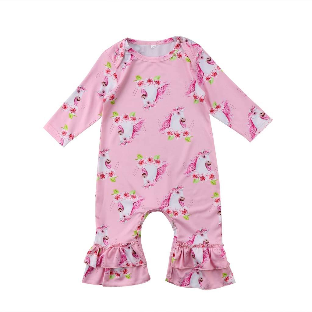 TTStore Toddler Infant Girls Print Flower Rompers Soft Fashion Newborn Baby Girl Romper Jumpsuit Sunsuit Clothes Long Sleeve