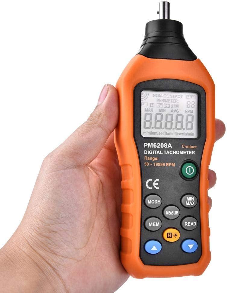 PM6208A Digitaler Drehzahlmesser-Motordrehzahlmesser mit Kontakt Wandisy Drehzahlmesser