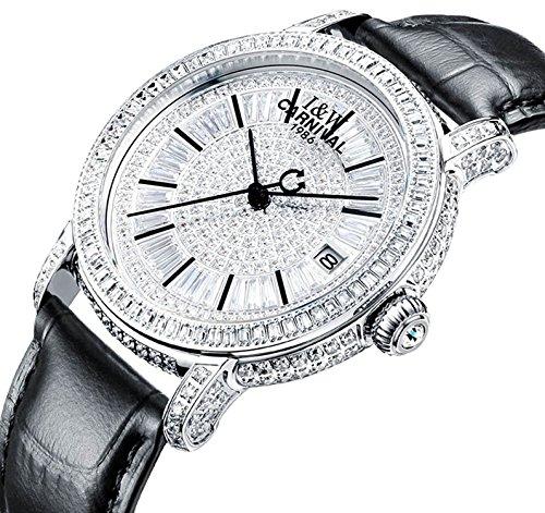 ar Luxury Jewelry Watch Austrian Crystal Mechanical Watch Fashion Lady Sapphire Wristwatch (Black) (Womens Austrian Crystal Watch)