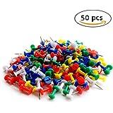 Sungpunet 50PCS mini assortiti in plastica colorata Press Push pins preavviso sughero