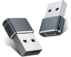 USB C Female to USB Male Adapter 2 Pack,Type A Charger Cable Power Adapter for iPhone 11 12 Mini Pro Max,Airpods iPad,Samsung