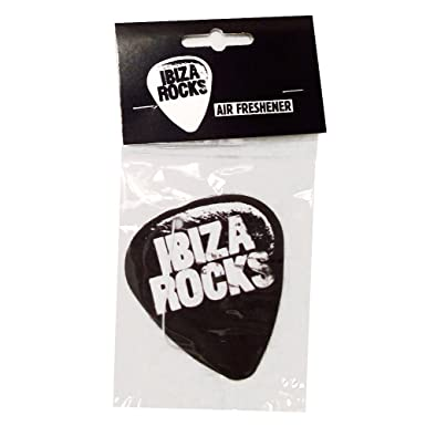 OFFICIAL Ibiza Rocks Oversize XL Sticker Silver Plectrum Club Logo Car Decal