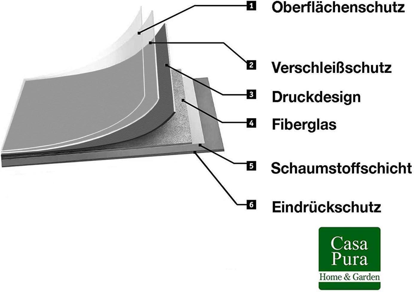 Oberfl/äche strukturiert gesch/äumt 100x450 cm - Einfarbig Anthrazit Meterware extra abriebfester PVC Bodenbelag casa pura/® CV Bodenbelag Expotop