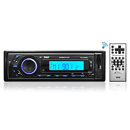 Car Stereo Head Unit Receiver - Premium AM/FM Media Radio w/ MP3 Playback, on