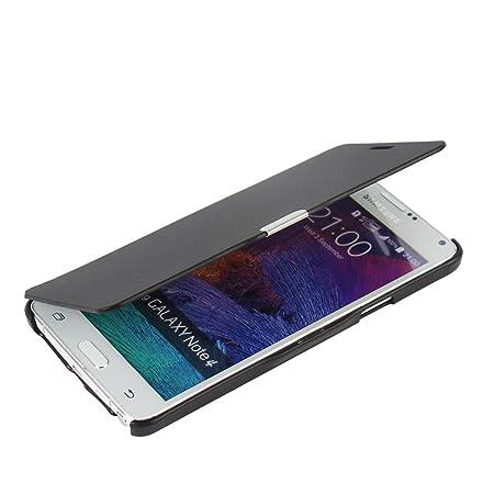 MTRONX für Samsung Galaxy Note 4 Hülle, Case Cover Schutzhülle Tasche Etui Klapphülle Magnetisch Dünn Leder Folio Flip für Sa