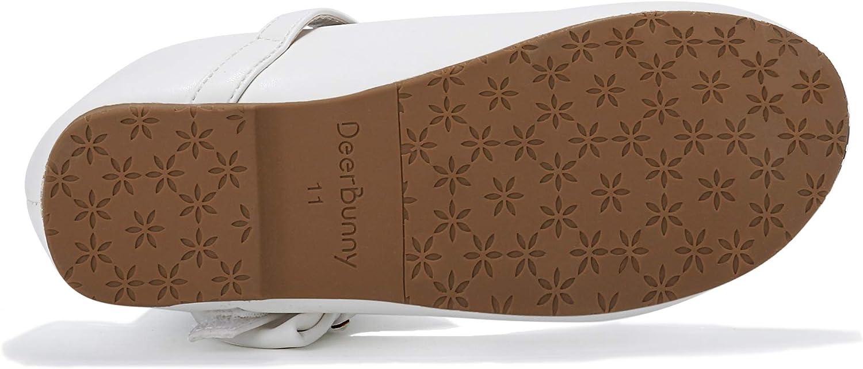 Toddler//Little Kid DeerBunny Girls Mary Jane Ballerina Flat Bowknots Dress Shoes