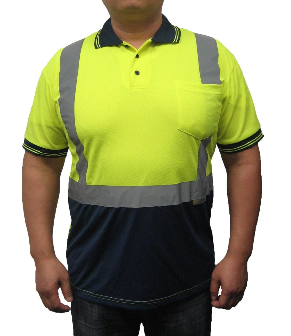 3C Products Men's Safety Polo Shirt 5XL Neon Green